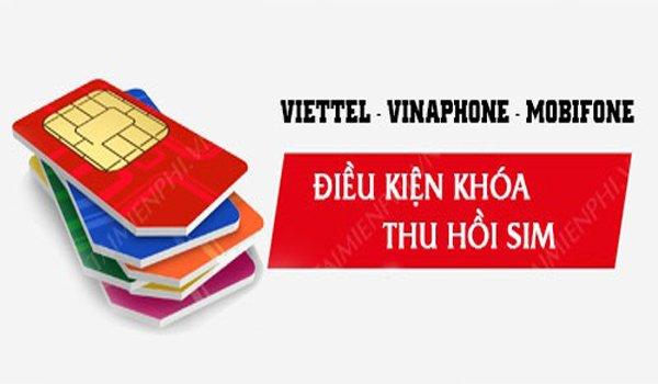 SIM Viettel, Vinaphone, Mobifone không dùng bao lâu bị khóa, thu hồi?